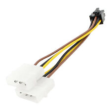 ASUS Dual 4 Pin Molex IDE to 6 Pin PCI Express Male Power Adapter for video card