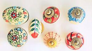 Möbelknopf Porzellan Möbelknauf Schublade Keramik Vintage Shabby Chic Handbemalt