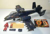 Complete 1984 GI Joe Cobra Rattler Ground Attack Jet Wild Weasel File Card Lot