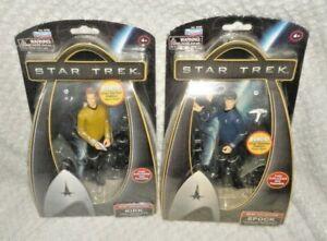 """Kirk & Spock 6"""" Action Figures Star Trek Warp Collection 2009"""