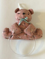 Bear Towel Rack Avon Country Collectible Stuff Teddy Dishcloth Holder Clear Ring