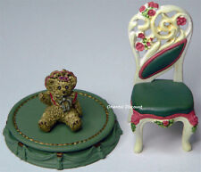 Victorian White Ballroom Back Chair Bear Takara Kaiyodo Miniature Antique Museum