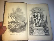 Antique Civil War Story Book - Yankee Middy Adventures of a Naval Officer! 1866!