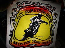 Put Something Exciting Between Legs 1970s Vintage Americana Iron On Transfer B-5