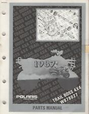 1987 POLARIS ATV TRAIL BOSS 4X4, W878027  PARTS MANUAL P/N 9911351 (930)