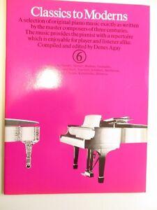 Notenheft Classics to Moderns Piano  Denes Agay guter Zustand