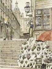 Dipinto Vintage Cityscape Parigi Bonne Nouvelle passi art print poster hp1828
