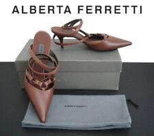 Scarpe da donna con tacco medio (3,9-7 cm) marrone con fibbia