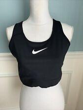 Nike E1853 Womens Black Dry Swoosh Bold Sports Bra Size 1X