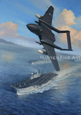 De Havilland Sea Vixen 893 Sqn HMS Hermes Aircraft Plane Painting Art Print