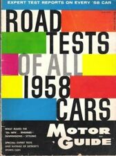 MOTOR GUIDE ROAD TESTS OF ALL 1958 CARS*