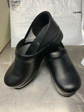 Dansko Women's Professional Black Leather Clogs ~ Size 11.5 WIDE / 42 WIDE (EU)