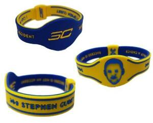 NBA Stephen Curry Golden State Silicone Reversible Bracelet Wristband Strap 13