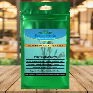 Superfood 100% Pure Bladderwrack Vegetable Capsules Sea Kelp Iodine NON-GMO