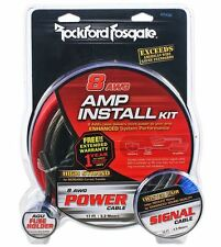 Rockford Fosgate RFK8I 8 Gauge Complete Car Amplifier Installation Amp Wire Kit