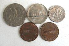 lot monnaie :  5 PIÈCES ANCIENNES ÉTATS UNIS / USA US COIN