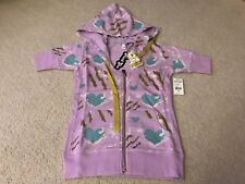 KIDROBOT HUCK GEE SLASHED HOODY HOODIE MEDIUM M VIOLET WOMANS LIMITED EDITION