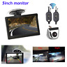 """Wireless 5""""Car Rear View LCD Monitor Silver Backup Reverse Camera Parking Assist"""