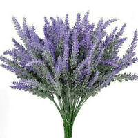Artifical Lavender Flower Bouquet Fake Plant Home Wedding Party Office Decor UK