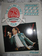 ICONIC The Rolling Stones 25th Anniversary Tour ROCK HISTORY BOOK 1989 GregQuill