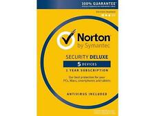 Norton by Symantec Security Deluxe retail keycard 5 Devices processed inSeconds