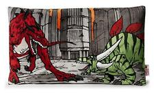 Nici 38362 - Cuscino Creatures peluche 43 x 25 CM ROSSO / Verde decorativo NUOVO