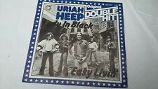 45T URIAH HEEP---LADY IN BLACK /  EASY LINVIN