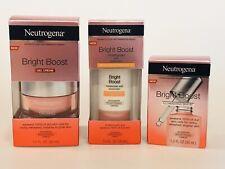 3 Neutrogena Bright Boost Items Serum + Moisturizer SPF30 + Gel Cream Exp 4/2021