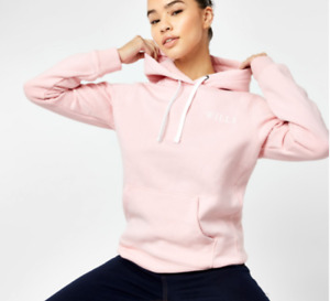 Jack Wills Classic Logo Hoodie Hoody Womens Blush Pink OTH Size 12 M *REF152