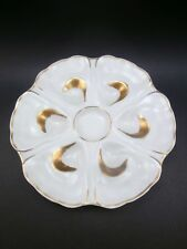 Vtg RARE JAMMET SEIGNOLLES Fr LIMOGES OYSTER PLATE HAND DECORATED 6 WELL EX COND
