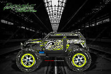 "TRAXXAS SUMMIT GRAPHICS WRAP DECALS ""GEAR HEAD"" FOR OEM BODY PARTS PALE GREEN"