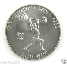 New listing Korea-south 2000 Won, 1988, 1988 Olympics Weight Lifter Unc