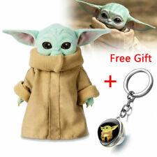 Baby Yoda Plush Toy Wakes Master The Mandalorian Force Stuffed Doll Xmas Gift