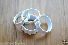 4PC Real CNC machined 1 1/8 Threadless Headset Stem Spacer ^^ WHITE Painted