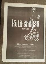Kula Shaker Hush 1997 press advert Full page 30 x 40 cm mini poster