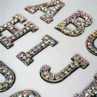 Rhinestone Sparkle Letter Patch Patches Sew on Alphabet Embroidery Clothes NEW