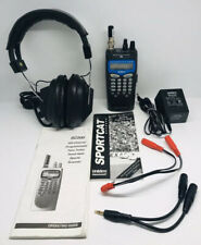 Lot Of R.E. Uniden Bearcat Sportcat Scanner SC200/Radio Shack Pro-100 Headset