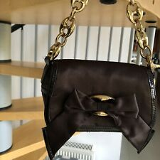 karen millen bag clutch Brown With Branded Karen Millen Metalwork