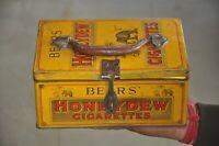 Vintage Bear's Honeydew Cigarettes Ad Litho Tin Box