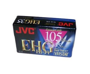 JVC TC-35 EHG VHS-C 105 Hi-Fi EP Mode Compact Video Tape  Blank / Sealed