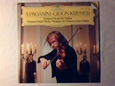 GIDON KREMER Paganini: virtuoso violin music lp DGG COME NUOVO VERY RARELIKE NEW