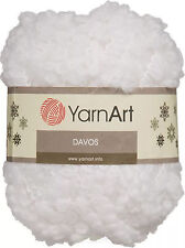NEW YarnArt DAVOS Kid Mohair Loop Boucle Fur Bright White Yarn 100 g 55 yds