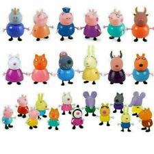 25 Pcs Peppa Pig Family&Friends Emily Rebecca Suzy Action Figures Toys Xmas gift