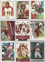 Larry Fitzgerald Mixed Lot 9 Different Cards 2009-2013 Arizona Cardinals