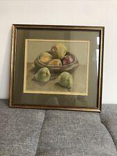 Wooden Fruit Bowl Pastel Artwork