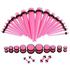 36pcs Acrylic Ear Taper Stretching Plugs Tunnels Ear Expander Piercing Gauges