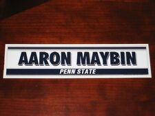 Aaron Maybin PENN STATE Locker Name Plate Tag - GAME USED Univ Nittany Lions