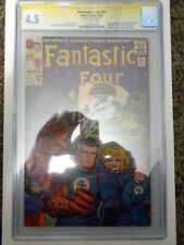 Fantastic Four #45 CGC SS 4.5 Signed Silver by Stan Lee 8/23/14 1st App Inhumans