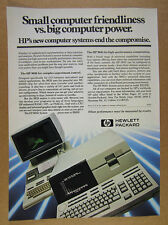 1981 Hewlett-Packard HP 9826 & 9845 Technical Computers photo vintage print Ad