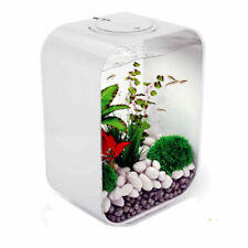 biOrb 15l Clear Aquarium With LED Lights 30l Pink Ocean Decor Set & Sculpture
